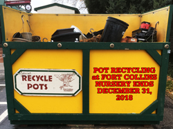Nursery Pot Recycling to End at Fort Collins Nursery